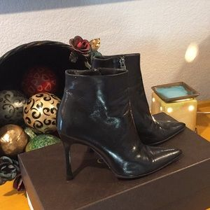 Authentic Gucci Black Leather Booties
